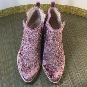 Jeffrey Campbell Mauve Peekaboo Booties Size 9.5